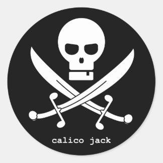 calico jack classic round sticker