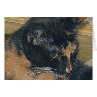 Calico Kitten Face Stationery Note Card