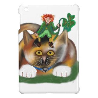 Calico Kitten Plays with her Leprechaun Pal iPad Mini Case