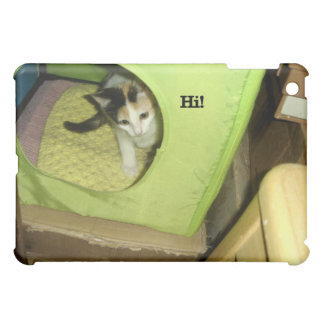 "Calico Kitten Says ""Hi!"" Cover For The iPad Mini"