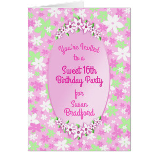Calico Sweet 16th Birthday Party Invitation