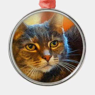Calico Tabby Cat Ornament by Carol Zeock