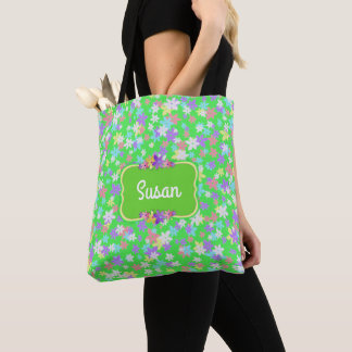 CALICO TOTE - Insert Your Name - Charming