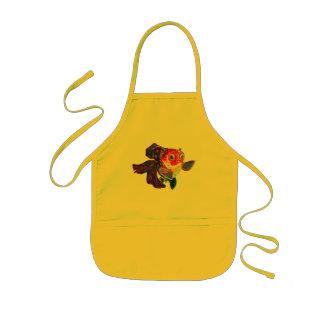 Calico Veiltail Goldfish kitchen craft apron
