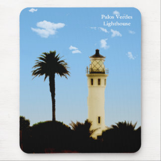Californai Lighthouse & Palm Tree Mousepad