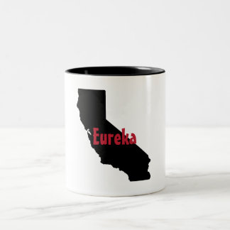 Californai State Mug - Eureka - Two-Tone Mug