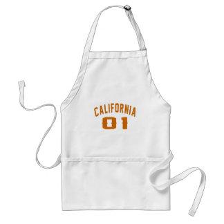 California 01 Birthday Designs Standard Apron