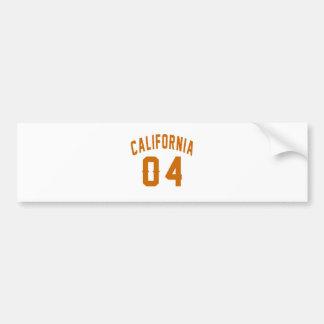 California 04 Birthday Designs Bumper Sticker