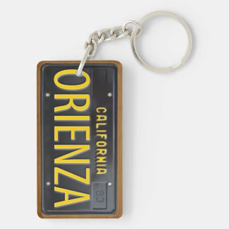California 1963 License Plate Keychain CUSTOM