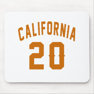California 20 Birthday Designs Mouse Pad