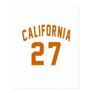 California 27 Birthday Designs Postcard