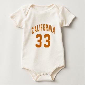 California 33 Birthday Designs Baby Bodysuit