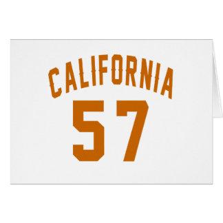 California 57 Birthday Designs Card