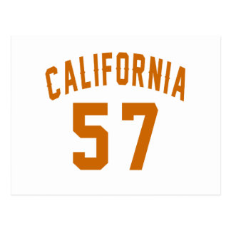 California 57 Birthday Designs Postcard