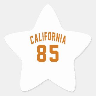 California 85 Birthday Designs Star Sticker