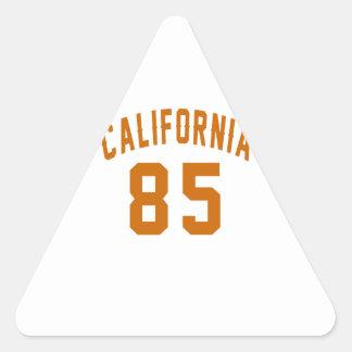 California 85 Birthday Designs Triangle Sticker
