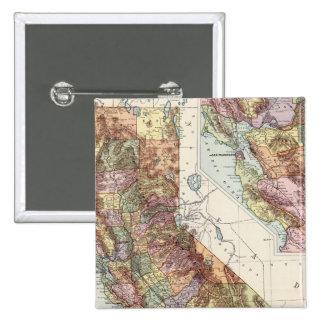 California 8 pinback buttons