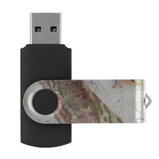 California 8 swivel USB 2.0 flash drive