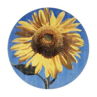California, A Mammoth Sunflower (Helianthus) 3 Cutting Board