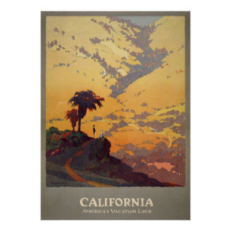 California America's vacation land Poster