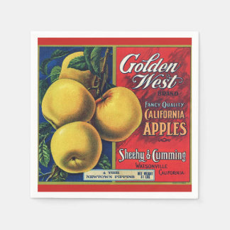 California Apple Crate Label Paper Serviettes