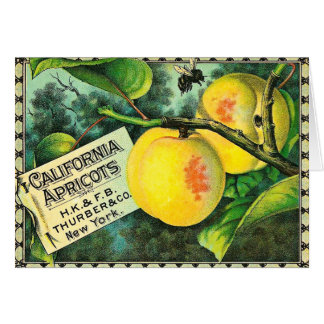 California Apricots - Vintage Crate Label Card