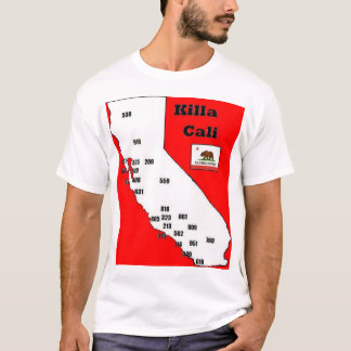 California Area Codes Tee