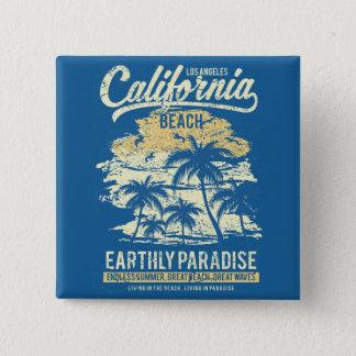California Beach Living in Paradise Endless Summer 15 Cm Square Badge