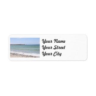 California Beach - Turquoise Pacific Ocean Waves Return Address Label