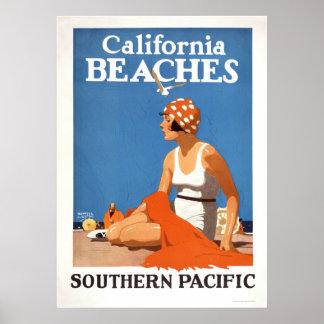 California Beaches Posters