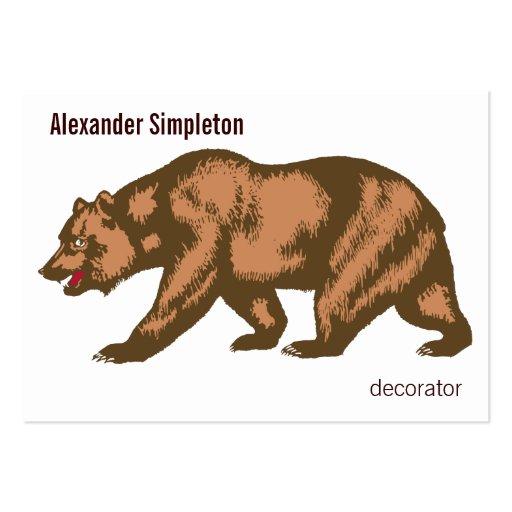California Bear Business Cards