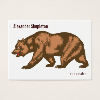 California Bear Business Card