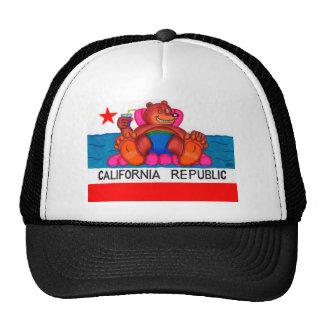 California Bear Feet Flag Cap