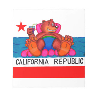 California Bear Feet Flag Notepad