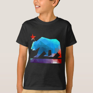 California Bear Fractal Colors T-Shirt