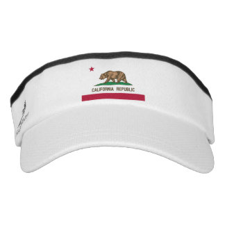 California bear state flag sun visor cap hat