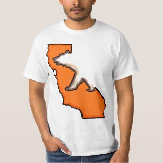 California bear state symbol orange value tee