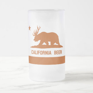 California Beer? Funny State Flag Frosted Beer Mug
