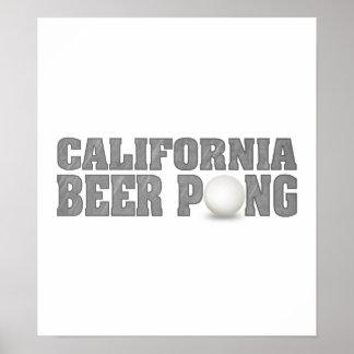 California Beer Pong Poster