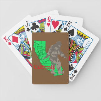 California bigfoot bicycle playing cards