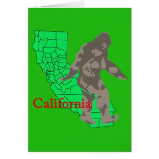 California bigfoot card