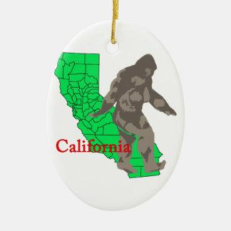 California bigfoot ceramic ornament
