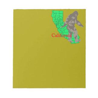 California bigfoot notepad