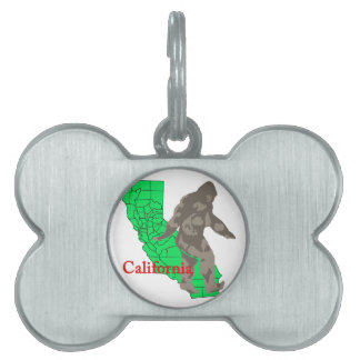 California bigfoot pet name tag