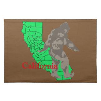 California bigfoot placemat