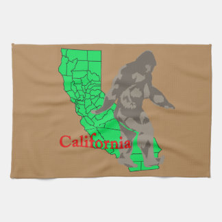 California bigfoot tea towel
