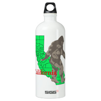 California bigfoot water bottle