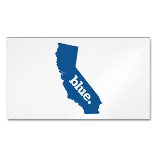 CALIFORNIA BLUE STATE MAGNETIC BUSINESS CARDS