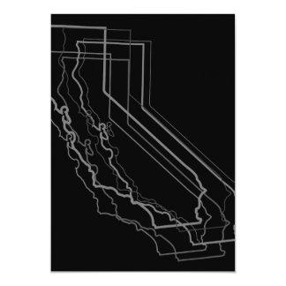 california blur 13 cm x 18 cm invitation card