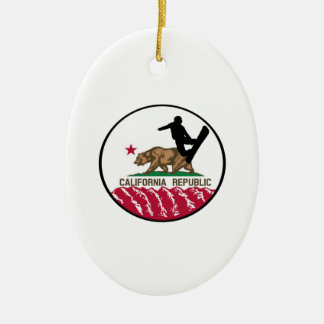 California Boarders Ceramic Ornament